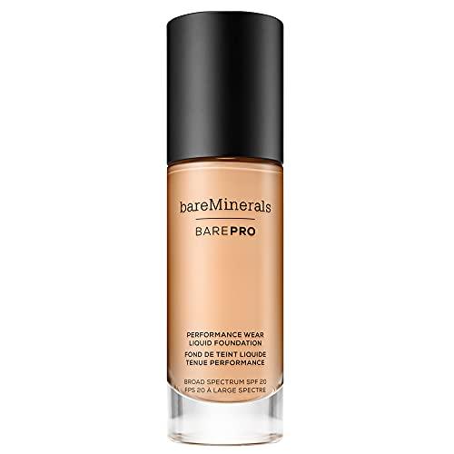 bareMinerals barePro Performance Wear Liquid Foundation SPF 20, golden nude 13, 1 Fl Oz