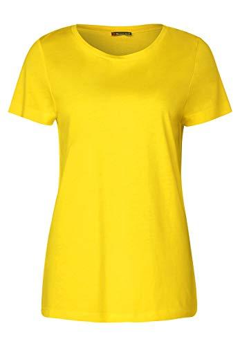 Street One Damen 314796 T-Shirt, Shiny Yellow, 38