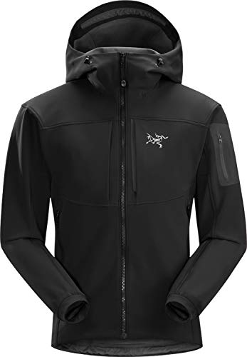 Arc'teryx Gamma MX Hoody Men's   Breathable and Versatile Softshell Hoody for Mixed Weather Conditions   Blackbird, Small