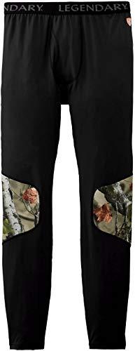 Legendary Whitetails Men's Huntguard Padded Baselayer Pant, Black, X-Large