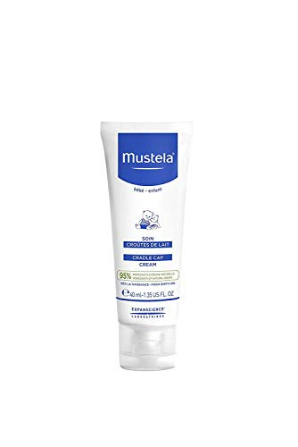 Mustela Baby Cradle Cap Cream - Newborn safe - with Natural Avocado - Paraben Free & Fragrance Free - 1.35 fl. oz.