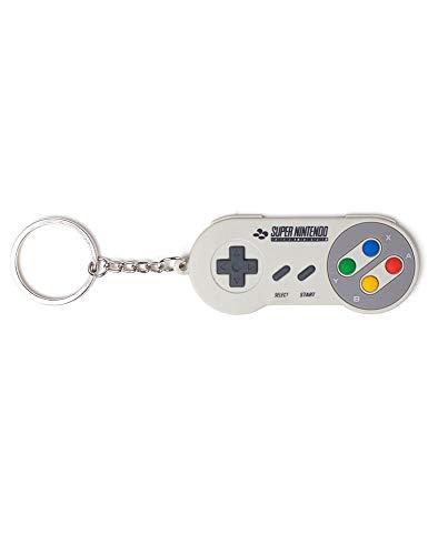 Super Mario Original SNES Controller - Schlüsselanhänger | 100% Gummi | Offizielles Merchandise