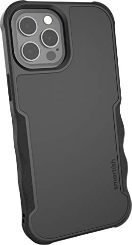 Smartish iPhone 12 Pro Max Armor Case - Gripzilla [Rugged + Protective] Slim Tough Grip Cover - Black Tie Affair