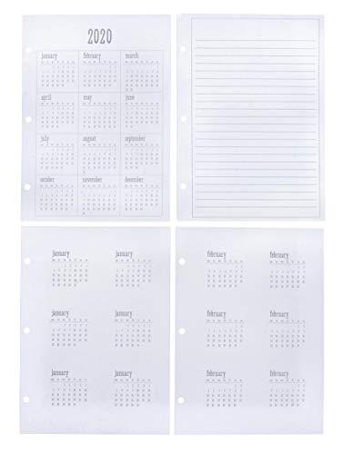 Rayher 50103000 Jahresübersicht 2020, DIN A5, inkl. Monatssticker + Notizzettel, für Rayher myPlanner, 15 Blatt, FSC Mix Credit