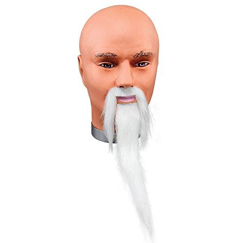 Bristol Novelty MB078 Zauberer Bart und Schnurrbart, Weiß, Einheitsgröße