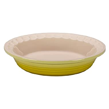 Le Creuset Stoneware Pie Dish, 9-Inch, Soleil