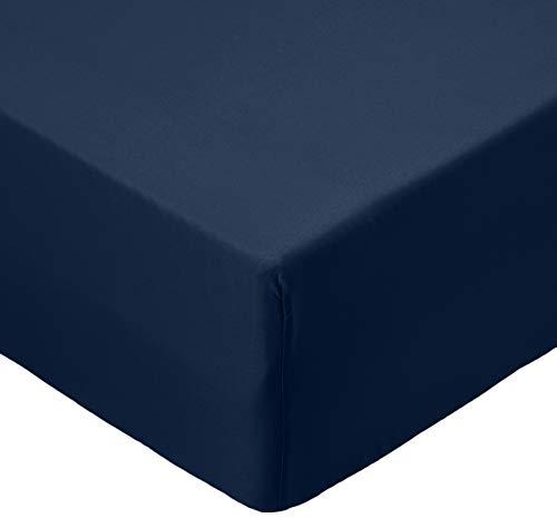 Amazon Basics AB Microfiber, Microfibre Polyester, Bleu Marine, 90 x 190 x 30 cm