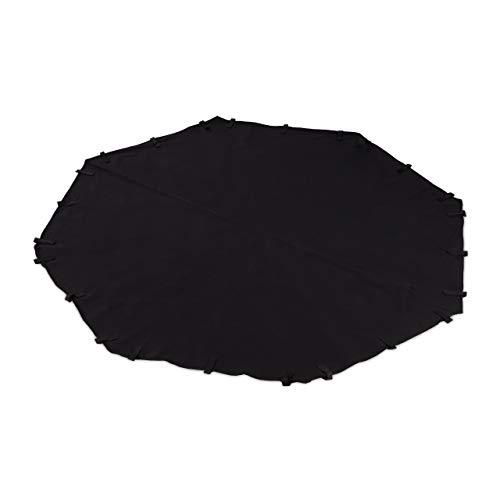 Relaxdays Nylonboden für Freilaufgehege, Achteck, wasserabweisend, Gehege Boden mit Klettverschluss, 168x168cm, schwarz