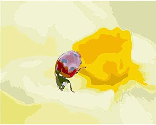 KELDOG® Puzzels voor volwassenen, 1000 stukjes houten puzzels - Insecten en gele bloemen, draagbaar opgerold uitdagend puzzelspeelgoed, Iq Challenge Home Decor