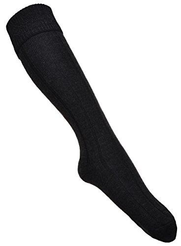 Kohlefarbe KILT Socke- Vielzahl von Größen erhältlich