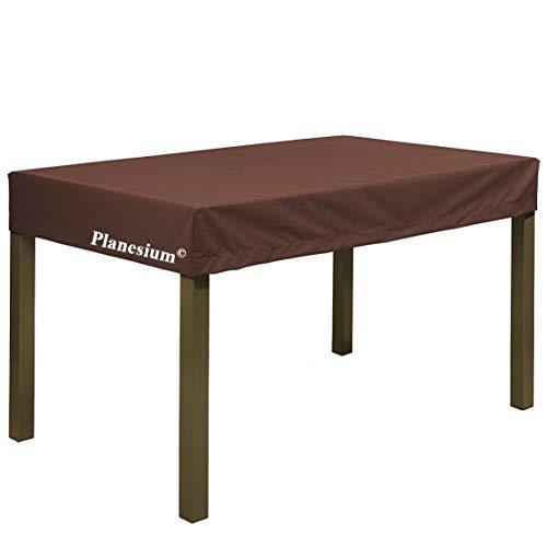 Planesium Premium Funda de Muebles de Jardín Mesa pRojoectora Cubierta Impermeable Tela Oxford Resistente al Desgarro Marrón 160cm x 90cm x 15cm