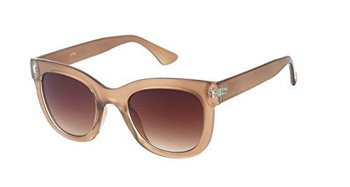 Chic-Net Hochwertige Sonnenbrille Cat Eye Stil Damen Rahmen breit Vintage getönt 400UV Glamour golden