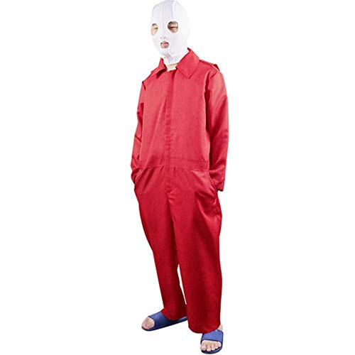 YyiHan Halloween Kostüm, Horrorfilm Uscosplay Kostüm rot Jumpsuit Cos Männer und Frauen Cosplay Make-up Halloween Party Kostüm Bühnenshow Kostüm