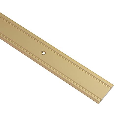 Gedotec Perfil de transición de aluminio, perforado, perfil de suelo para atornillar, superplano, ancho 30 mm,...
