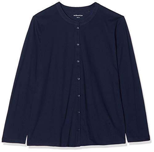 Seidensticker Damen Pyjama lang Zweiteiliger Schlafanzug, Blau (Navy 815), 38 (Herstellergröße: 038)