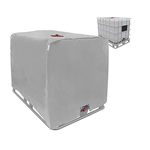 IBC Tank Abdeckung, Abdeckplane für Wassertank 1000L, IBC Container Cover, Wassertank IBC Behälterabdeckung für IBC-Tank Behälter Container Regenwassertank (Grau)