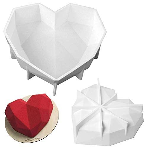 シリコン型 シリコンモールド シリコンムース型  家庭用 業務用ムースモールドベーキングモールド チョコレート型 お菓子 ケーキ 金型 3D抜き型 DIY 1穴 家庭用キッチン 製菓道具 マフィン ハート型 立体的な心型