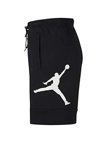 Nike M J Jumpman Air FLC Short Pantaloncini Sportivi, Uomo, Black/Black/(White), S