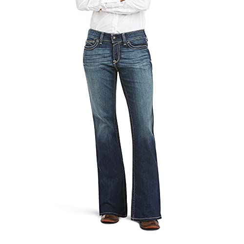 ARIAT womens R.e.a.l. Mid Rise Boot Cut Rebar M4 Slim Fit Durastretch Straight Leg Jean Work Jeans for Men, Spitfire, 31 Long US