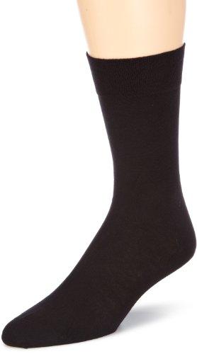 Hudson RELAX COTTON Herren Socken, Baumwollsocken Herren ohne Gummibund, Männersocken mit verstärkter Sohle (sportlich, viele Farben) Menge: 1 Paar, Schwarz (Black 0005), Gr. 43-44