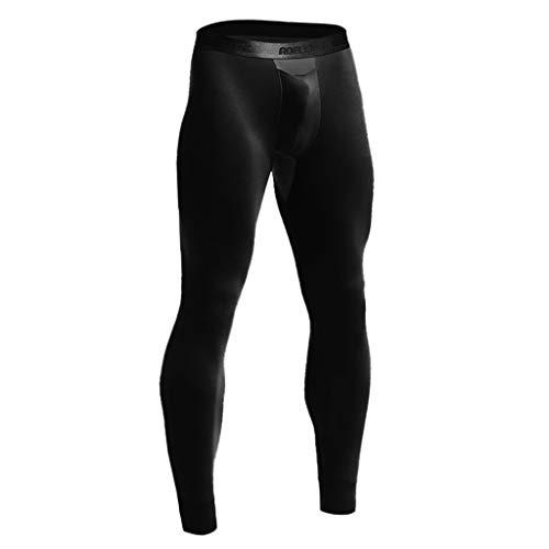 KEERADS- sous-vêtements Thermiques Pantalon pour Homme Collant Slim Stretch Legging Caleçons Longs Pantalon Thermique pour Homme en Coton Doux - Couche De Base