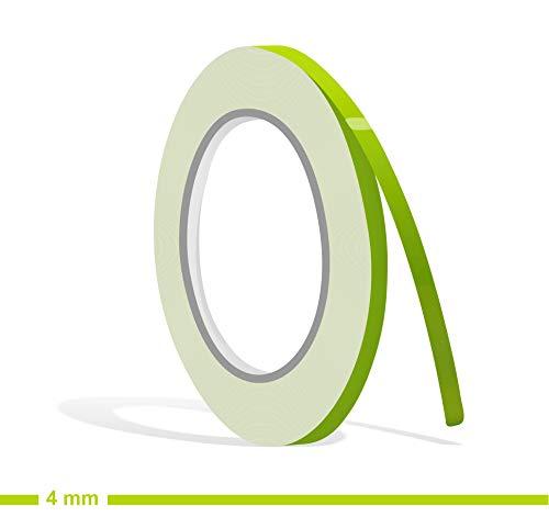 Siviwonder Zierstreifen lindgrün lind Glanz in 4 mm Breite und 10 m Länge Folie Aufkleber für Auto Boot Jetski Modellbau Klebeband Dekorstreifen grün apfelgrün