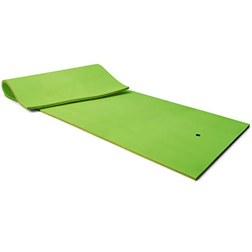 Goplus 12' x 6' Floating Water Pad, 3-Layer Tear-Resistant XPE Foam Mat, Roll-Up Floating Island...