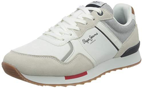 Pepe Jeans Cross 4 Tech, Zapatillas Hombre, 800 Blanco, 43 EU