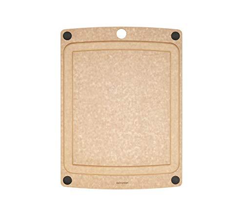 Epicurean 505-120901003 - Tagliere multifunzione con piedini antiscivolo, 29,2 x 22,9 cm, colore: Naturale/Nero, 505-120901003