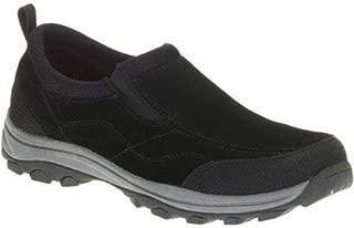 Men's Gan Genuine Suede Black Wrangler Memory Foam Slip-on Shoes