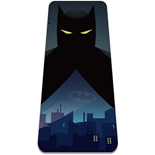 NMDD Batman - Esterilla de Yoga Extragrande, ecológica, de Alta Densidad, antidesgarro, de 72 x 24 Pulgadas de Grosor, de 1/4 de Pulgada, Antideslizante, para Pilates, meditación, Suelo y esteril
