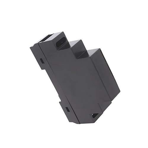 WITTKOWARE Hutschienengehäuse, schwarz, 90x18x65mm (1TE)