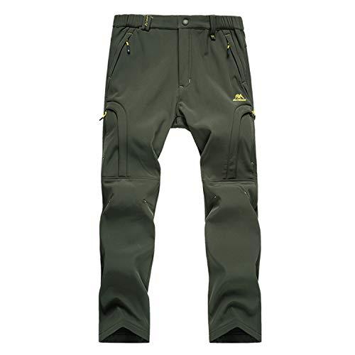 BWBIKE Softshell Invernale da Uomo Pantaloni Foderati in Pile Pantaloni da Arrampicata da Trekking Outdoor Pantaloni da Trekking da Sci Resistenti all'Acqua