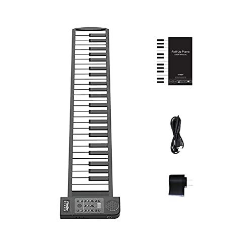 Moslate Teclado de Piano portátil para niños/Adultos, Teclado Enrollable de 61 Teclas, Teclado de Piano electrónico de Silicona Flexible, Teclado de Piano Plegable, Adecuado para Principiantes