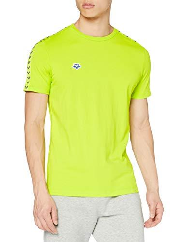 ARENA Team Camiseta de Manga Corta, Hombre, Amarillo (Soft Green/Soft Green/Ash Grey), S