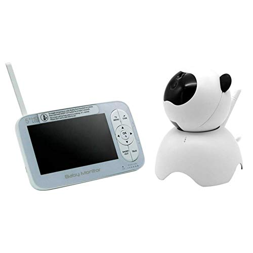 FMOGE Baby Monitor with Camera 5-inch HD Display 4 Camera Combinations High-Sensitivity Omnidirectional Microphone and Speaker,Dome Cameras