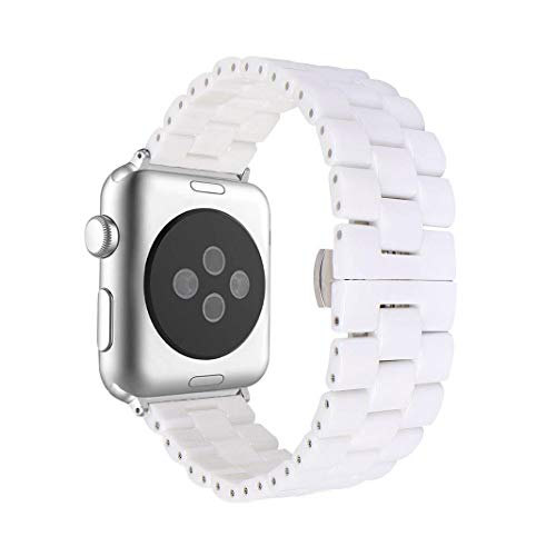 Aottom Compatible for Apple Watch Bands 38mm Ceramic iWatch Series 4 Band 40mm Stainless Steel Smart
