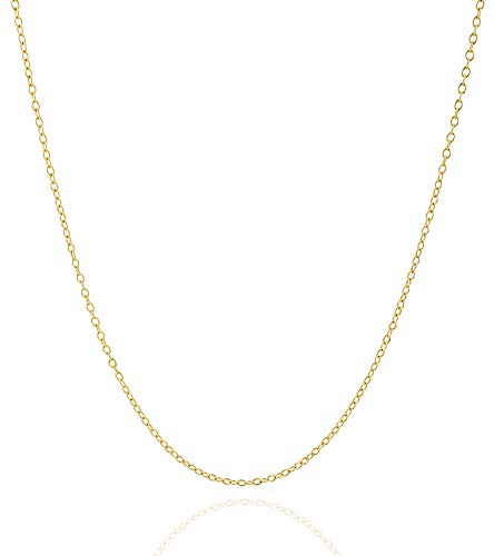 Jewelry Atelier Gold Chain Necklace Collection - 14K Solid Yellow Gold Filled Cable/Pendant Link Chain Necklaces for Women and Men with Different Sizes (2.0mm, 2.7mm, or 3.6mm) gold