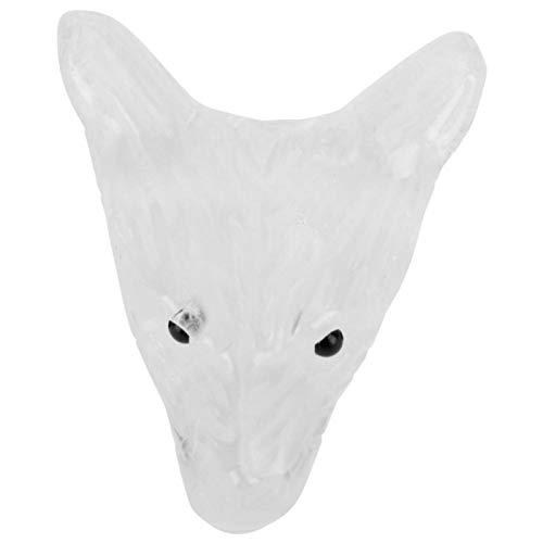 Caiqinlen Collar de Cristal, Collar de Cabeza de Lobo antialérgico, Piedra Natural Exquisita Mano de Obra Duradera para Bodas Familiares(Crystal)