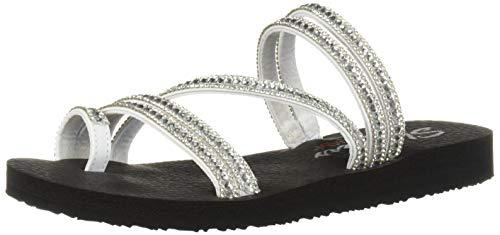Skechers Women's Meditation - Glam Flash - Rhinestone Toe Loop Thong Flip-Flop