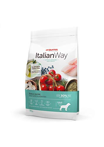 Italian Way Cibo per Cani Ipoallergenico Ideal Weight Trota e Mirtilli - Adult - Medium - 12 kg