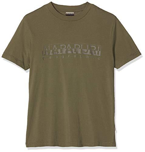 NAPAPIJRI Sevora T-Shirt, Verde (New Olive Green Gd6), Large (Taglia Produttore: XXX) Uomo