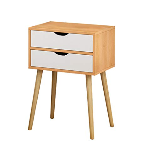 Purchase Nightstand Accent Bedside End Table Side Table Storage Wood Cabinet Bedroom w/2 Drawers
