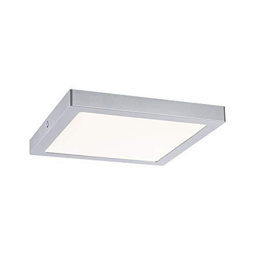 Paulmann 70982 LED Panel Abia eckig incl. 1x22 Watt Deckenlampe Chrom matt Lichtpanel Kunststoff Deckenlicht 2700 K, 22 W