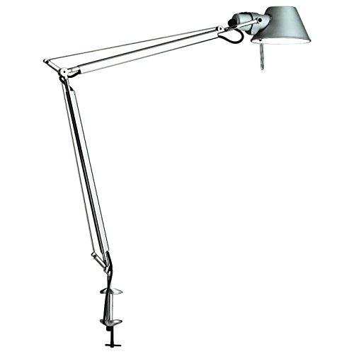 Artemide Tolomeo Tavolo LED mit Tischklemme, Aluminium poliert & eloxiert, 3.000 K
