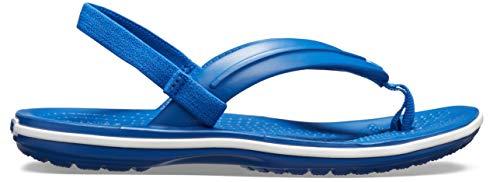 Crocs Unisex-Kinder Crocband Strap Flip Zehentrenner, Blau (Blue Jeans 4gx), 23/24 EU