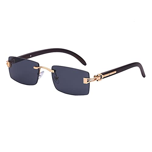 AMFG Gafas De Sol Retro Enamoradas Gafas De Sol Cuadradas Para Hombres Con Cajas De Ojos, Regalos (Color : G, Size : M)