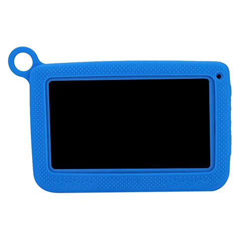 TTBD Tableta PortáTil WiFi Kids Learning Tablet Cubierta Protectora 7 Pulgadas 1024 X 600, Enchufe Azul EU