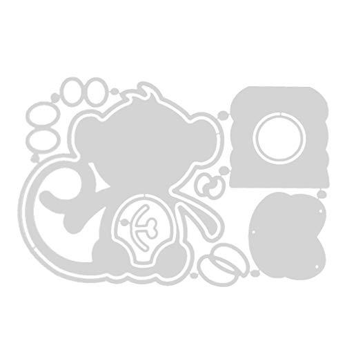 Qiman Ostern Affe Box Metall Stanzformen Schablone, DIY Album Briefmarke Karte, Scrapbooking, Kartenherstellung, Papierhandwerk, Themeneinladungen, Albumdekoration, Fotorahmen