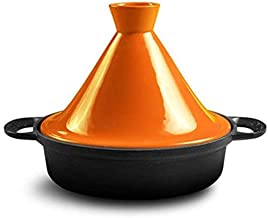 Praktisch Casserole gerechten Marokkaanse kookpot 26cm braadpan gietijzeren pot met stongoed trechter deksel voor alle koo...